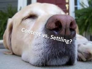Content vs. Settling