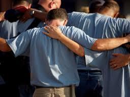 Guys praying
