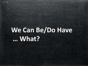 We Can Be