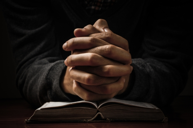 Praying Hands With Bible