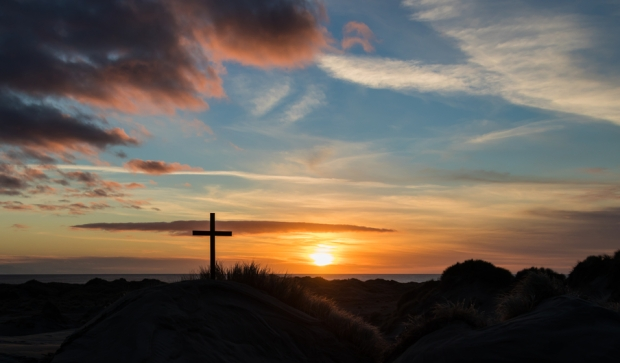Sand Dunes Cross Sunset
