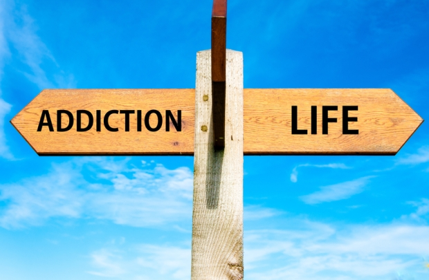 Addiction and Life signs, Choice conceptual image
